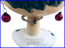 Holt Howard Vintage 1959 Rare Holly Berry Head Vase / Cup Christmas Red Earrings
