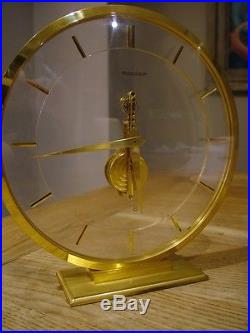 ICONIC 1950'S JAEGER LECOULTRE 8 DAY SKELETON BAGUETTE MANTEL CLOCK 474 WORKS