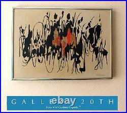 Iconic! MID Century Modern Original Abstract Painting! Art Vtg 50's 60's Retro