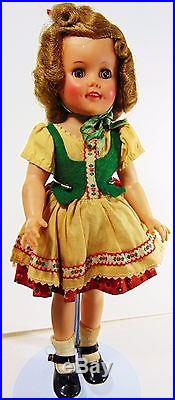 Ideal Shirley Temple 14 Movie Star Doll 1960 C Heidi Costume Vintage Home Toy