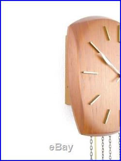 Junghans Vintage Design Mid Century TEAK Retro Wall Clock (Kienzle Hermle era)
