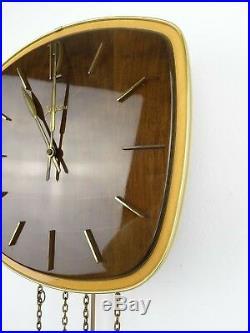 Junghans Vintage Mid Century Clock German Retro 8 day (Kienzle Hermle era)