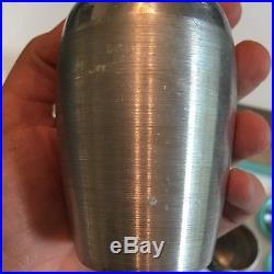KROMEX Turquoise Spice Set Rack 8 Aluminum Shakers Vtg Mid Century Retro 50s