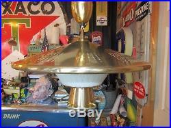 LARGE 22 VTG Atomic Saucer Pull Down Ceiling Fixture Light Mid Century Retro