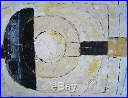 Large Abstract Oil Painting 70s 80s Mid-Century Modern Vintage Retro Cornish