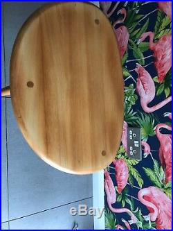 Large Ercol Pebble Table Large MID Century Side Table Gold Retro Vintage