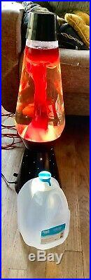 Large Lava Lamp Retro dimmer switch vintage mid century funky red