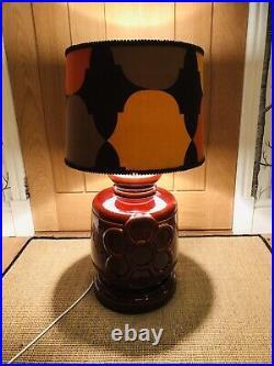 Large Vintage Mid Century West German Fat Lava Floor Lamp and Retro shade. 67cm