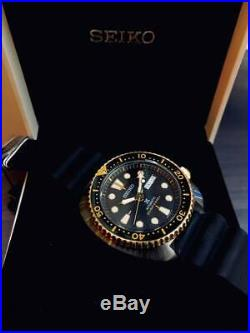 Latest NEW Seiko SRPD46K1 Asia Special Edition Black Gold turtle prospex