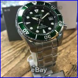 Latest Seiko Prospex 3rd Sumo Green SPB103J1 200M Divers Men's Steel Bracelet
