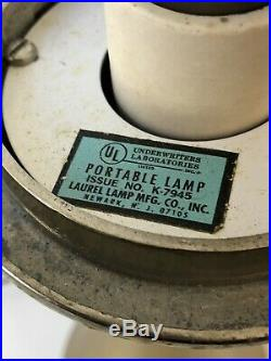 Laurel Mushroom Mid Century Modern Table Lamp Brass & Glass Mod Vintage Retro