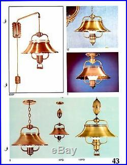 Lavery Vintage Mid-century Antique Ranch 51ab Pull Down Fixture New Retro Nos