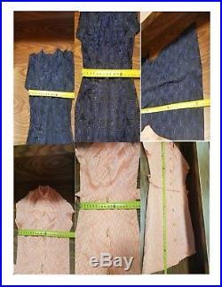 Lot of 5 Vtg Day Dress Handmade Mid Century Retro Short Sleeve Pink Blue Brown