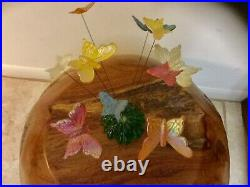 Lucite Kinetic Atomic Mid Century Butterfly Sculpture