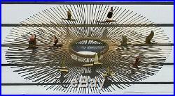 MCM Curtis Jere Sunburst Birds In Flight Metal Brutalist Wall Sculpture 38
