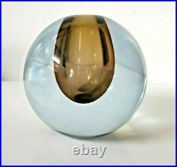 MCM Strombergshyttan Mid Century Art Glass Spherical Orb Gunnar Nyland Signed