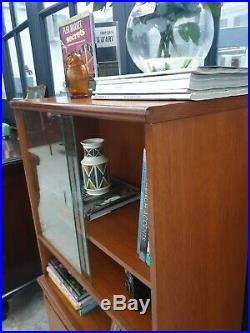MEREDEW Display Cabinet Teak Bookcase Unit Mid Century DELIVERY AVAILABLE
