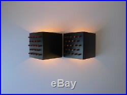 MID CENTURY CLAIR-OBSCUR WALL LIGHTS by RAAK, 60s Vintage Space Age Retro