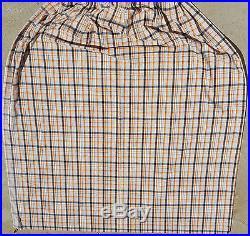 MID-CENTURY CURTAINS VINTAGE 7pc SET 1960s RETRO MOD ORANGE PLAID DRAPES