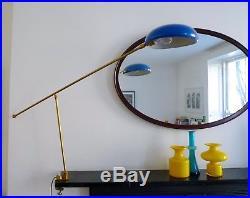 MID-CENTURY ITALIAN BRASS CLAMP LAMP Retro Vintage Stilnovo Arredoluce style