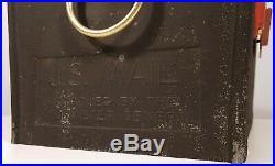 MID-CENTURY MAILBOX LEIGH MFG SEARS & ROEBUCK RETRO ANGULAR VINTAGE 1960s 1970s