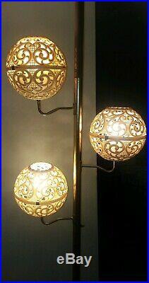 MID CENTURY MODERN TENSION POLE FLOOR LAMP VINTAGE EAMES RETRO 1960s