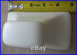 MID CENTURY MODERN Vintage White Ceramic Bath RETRO MCM Towel Bar Holder with ROD