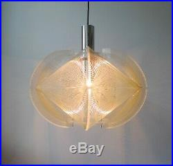 MID-CENTURY PAUL SECON PENDANT CEILING LIGHT by SOMPEX Space Age Retro 60s