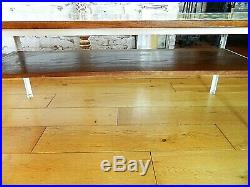 MID CENTURY Retro Large Wooden Decorative Top Metal Frame Coffee Table