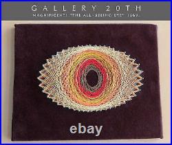 MID Century Danish Modern String Pop Art! All Seeing Eye Vtg 1969