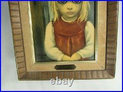 Margaret Walter KEANEREJECTEDframed printBig Eyes 1962brass name plate
