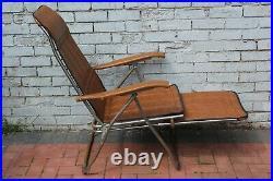 Maule Marga 60s 70s Mid Century Italian Vintage Reclining Garden Chair Lounger