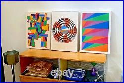 Max Bill Vtg Mid Century Modern Retro Geometric Silkscreen Screenprint Art Print