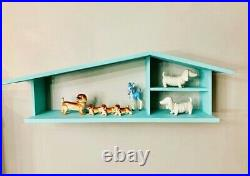 Mcm Midcentury Modern Style House Shaped Shelf Kitsch Collection Doll House