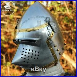 Medieval Pig Faced Bassinet Hounskull Armour Helmet Halloween Show Costume