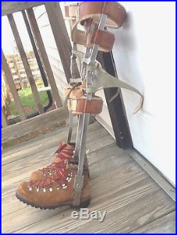 Metal And Leather Kafo Leg Braces Polio Withboots