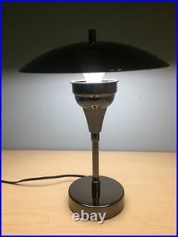 Mid Century 16 Modern LED Touch Lamp Space Age UFO Metal Atomic Retro Vintage