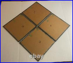Mid Century 1960s OP ART Psychedelic Set Of 4 Mirrors Atomic Space Age Vintage
