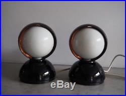 Mid Century 60s Vintage Eclisse Table Lamps Vico Magistretti Artemide Retro