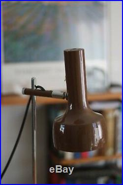 Mid Century Brown Colour OSLO Style Desk Lamp, Vintage, Retro, Rare, Working Mint