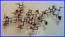 Mid Century Brutalist abstract Retro VTG metal Wall Sculpture Corey Ellis Art