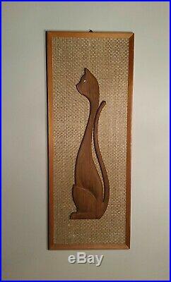 Mid Century Cat Retro Cat Pictures Wall Art 1960s Cat
