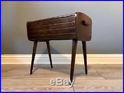 Mid Century Danish Retro Sewing Box Table & Large Vintage Sewing Kit FREE P&P