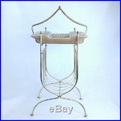 Mid Century Floor Ashtray Magazine Rack 25 inch Tall Coaster Smoke Stand