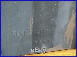 Mid-Century Mailbox Sears & Roebuck 09W73 Vintage Retro Angular 1970s Leigh Mfg