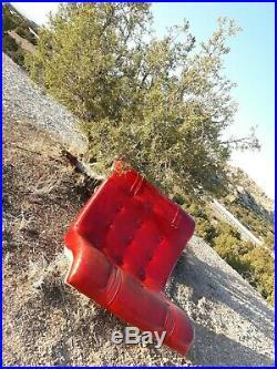 Mid Century Mod Vintage 1970s Verner Panton Baughman Style Retro Chair No Base