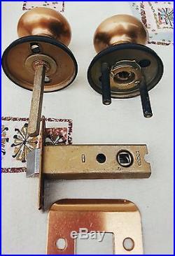 Mid Century Mod Weiser Door Knob Set Bronze Black Retro