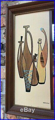 Mid Century Modern 60s RETRO Mirrored Shadowbox Turner Wall Vintage Danish