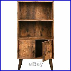 Mid Century Modern Bookcase Retro Cabinet Vintage Sideboard Storage Unit Display