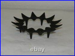 Mid Century Modern Dansk Jens Quistgaard Cast Iron Candle Holder With Candles